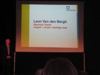 Huldiging Dirk Mees en Leon Van den Bergh op het gemeentehuis.